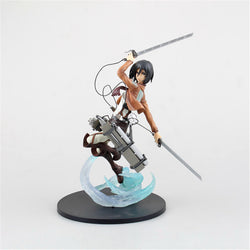 Action figure toys Attack on Titan Mikasa PVC collection PVC toys 23cm