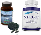 E3Live AFA Supplement, 2 Bottles of 60 Count with Zanocap Scientific Weight Loss