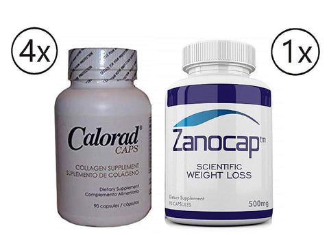 Calorad Caps by (MG)4 Bottle with Zanocap Scientific Weight Loss 1 Bottle
