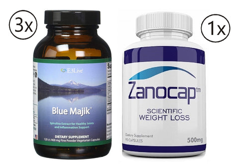 E3Live Blue Majik, 3 Bottles of 120 Count with Zanocap 1 Bottle