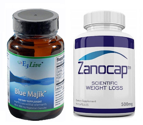 E3Live Blue Majik 60ct/400mg Capsules W/ Zanocap Scientific Weight Loss 1 Bottle