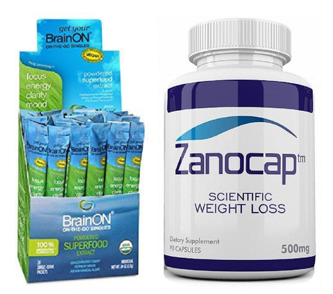 E3Live BrainON Concentrated E3AFA 30 Count Box with Zanocap 1 Bottle