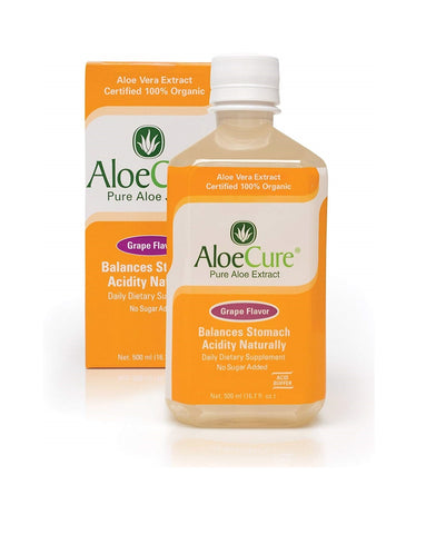 AloeCure Pure Aloe Extract Grape Flavor Dietary Supplement 16.7 fl oz