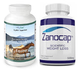 E3 Equine Fresh-Frozen Superfood Powder for Horses with Zanocap 1 Bottle