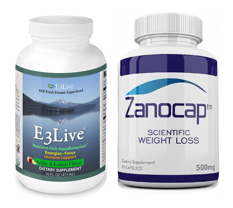 E3Live Apple/Lemon Flavor Frozen Superfood Supplement w/ Zanocap 1 Bottle
