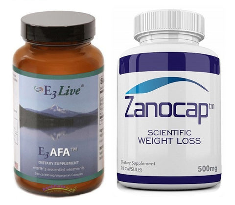 E3Live AFA, 240 Caps (400mg each) With Zanocap Scientific Weight Loss 1 Bottle