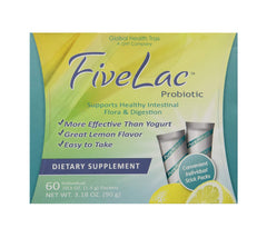 FiveLac Probiotic Lemon Flavor Dietary Supplement (3.18 oz) Support Healthy Digestion