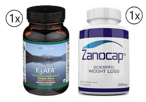 E3Live AFA Powder, 1 Bottle of 50 Gram with Zanocap Scientific Weight Loss