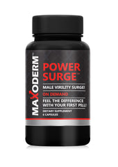 Maxoderm Power Surge Male Virility Surge Dietary Supplement 06 Capsules