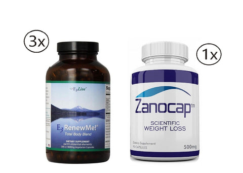 E3Live E3renewme! Supplement, 3 Bottles of 60 Count with Zanocap 1 Bottle