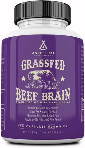 Ancestral Supplements Grass Fed Brain (180 Capsules) 500 mg