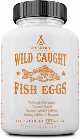 Ancestral Supplements Wild Caught Fish Eggs (180 Capsules) 500 mg