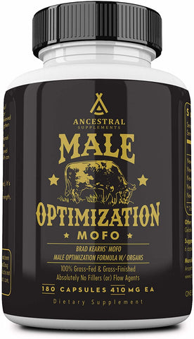 Ancestral Supplements Male Optimization Formula W/ Organs (Mofo) (180 Capsules)
