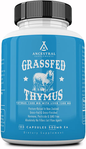 Ancestral Supplements Grass Fed Thymus Extract (180 Capsules) 500 mg