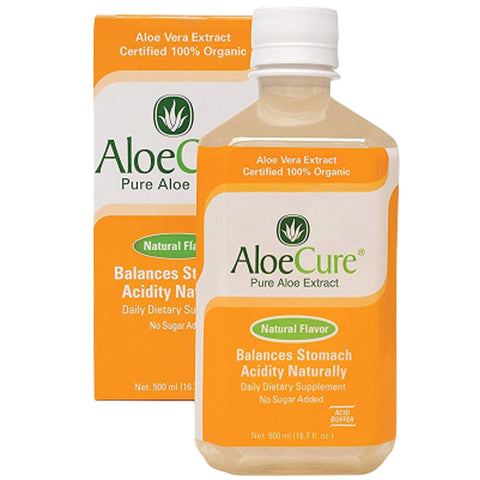 AloeCure Pure Aloe Vera Juice Acid Reflux Treatment Natural Flavor, 1 Bottle