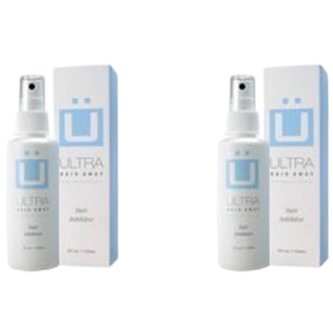 Ultra Hair Away - 2 Bottles - Hair Growth Inhibitor; Permanent Hair Removal Remover Spray