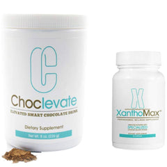 1 Choclevate tub and 1 XanthoMax Bottle 30 caps, by Elevacity