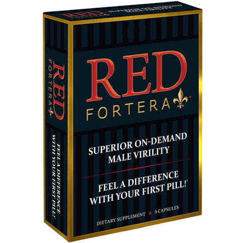 Red Fortera (3 ct) Superior On-Demand Male Virility - Fast Acting Tribulus Energy & Performance Booster