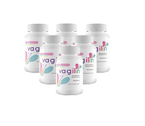 Vagilin Natural Homeopathic 60 Caps (6 Bottles) Eliminates Bacterial Vaginosis