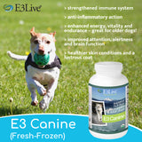 E3 Canine (Fresh-Frozen), AFA superfood for dogs, 16oz / 6 Packs