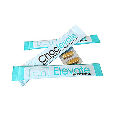 Elevacity 2 Day Product Trial - Sample Kit Includes: 2 Elevate Coffee sachets, 2 XanthoMax caps and 1 Choclevate sachet