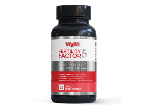 VigRX Fertility Factor 5 - Fertility Support Supplement For Him - 30 Capsules (Pack Of 6)