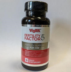 VigRX Fertility Factor 5 - Fertility Support Supplement For Him - 30 Capsules (Pack Of 3)