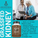 Ancestral Supplements Grass Fed Beef Kidney (180 Capsules) 500 mg
