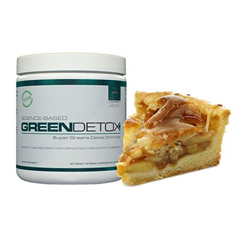 Green Detox Superfood Drink Mix - Apple Pie Flavor - Sugar Free, Vegan-Friendly; Over a Dozen Superfoods in Each Serving