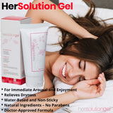 HerSolution Gel Female Lube Lubricant (2 fl.oz) Tube Increase Blood Flow