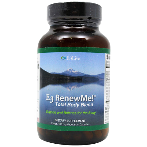 E3Live Renew Me! Total Body Blend-1 Bottle (120ct/400mg each)- Aid in Weight Loss