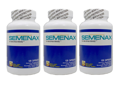 Semenax Volume and Intensity Enhancer 120ct - 3 bottles (360ct)