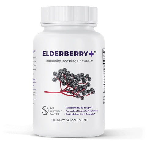Leading Edge Health Elderberry Plus Promotes Respiratory Health Dietary Supplement