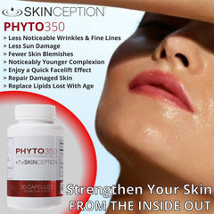 Skinception Phyto350 Advanced Phytoceramides Formula (30 ct) - 2 pack