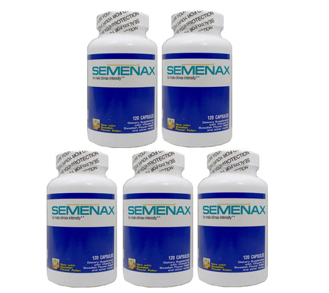 Semenax Volume and Intensity Enhancer 120ct - 5 bottles (600ct)