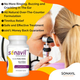 Sonavil Tinnitus Solution 60 Capsules (1 Bottle) Eliminate Tinnitus Symptoms