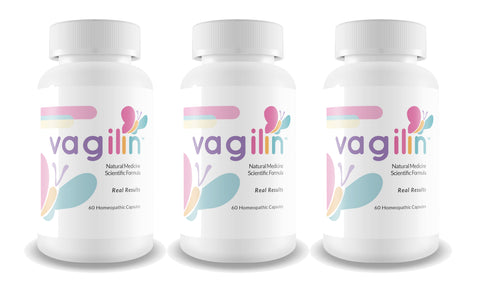 Vagilin Natural Scientific Formula 60 Homeopathic Capsules (3 Bottles)