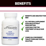 Procerin Vitamins For Hair Loss - 5 Months Supply - 5 bottles