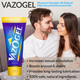 Vazogel Male & Female Enhancement Gel  - 3 Tubes (4oz each)