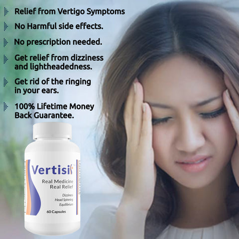 Vertisil Real Medicine 60 Caps (2 Bottles) Relieve Vertigo Symptoms 100% Natural
