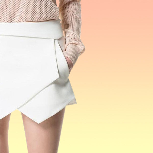 Modern Asymmetric Skort - Very Peachy Clothing