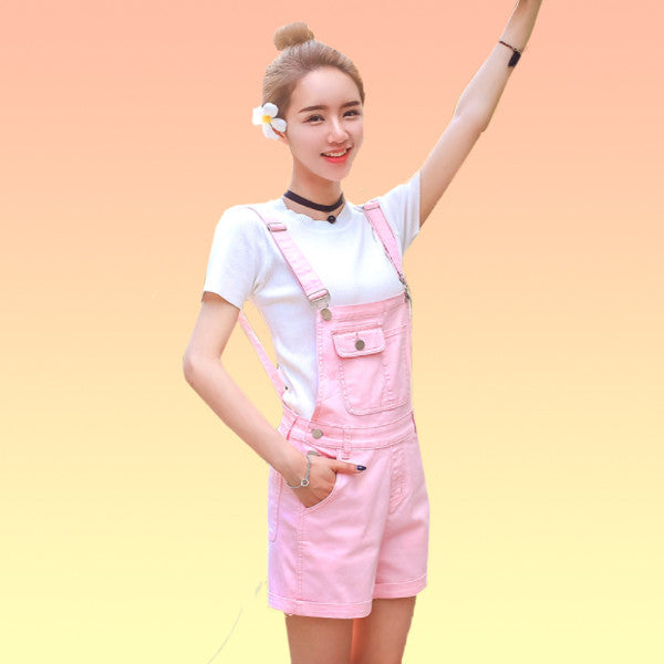 Pastel Denim Overalls - Very Peachy Clothing