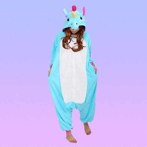 Unicorn Adult Onesie KIGURUM Sleepwear - More Cute Characters Available! - Very Peachy Clothing