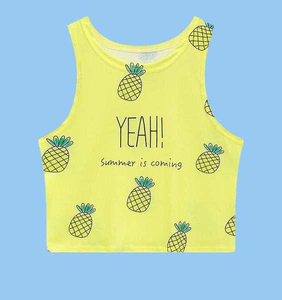 Pineapple Crop Tank - Very Peachy Clothing