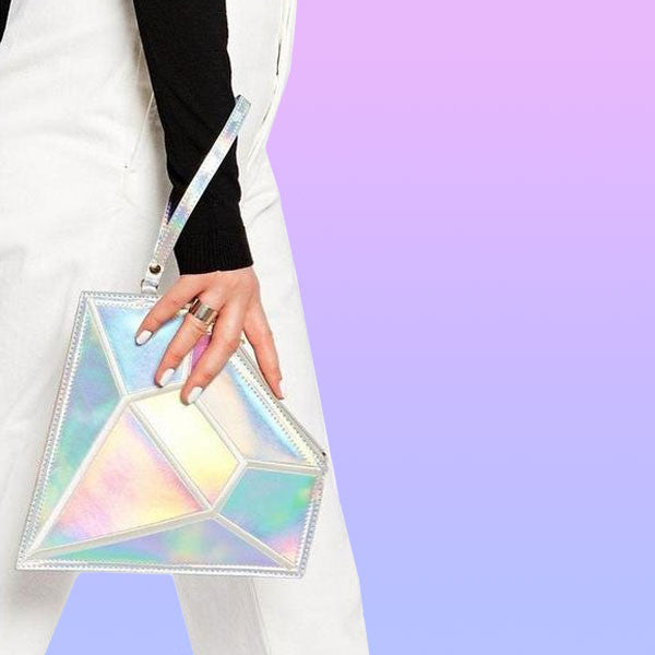 Laser Diamond Clutch Crossbody Bag - Very Peachy Clothing