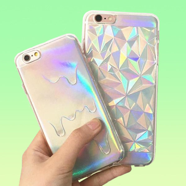 Holographic Iridescent iPhone Case - Very Peachy Clothing