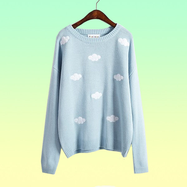 Oversized Cloud Pullover - Very Peachy Clothing