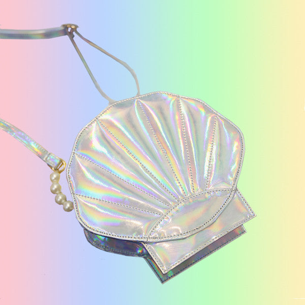 Holographic Shell Crossbody Bag - Very Peachy Clothing