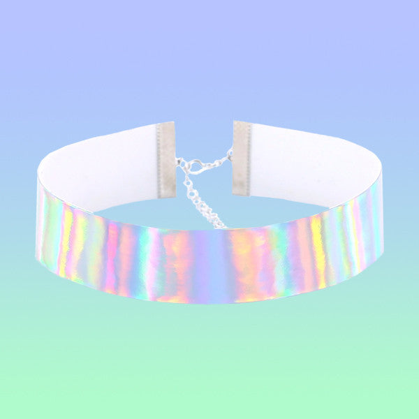 Holographic Choker - Very Peachy Clothing