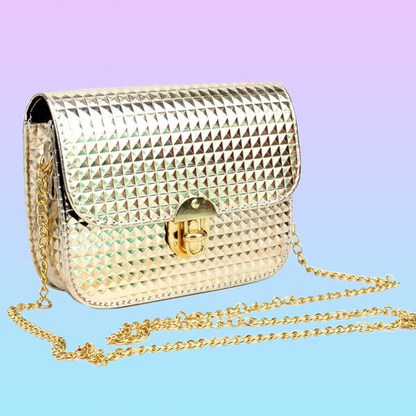 Metallic Crossbody Bag - Very Peachy Clothing
